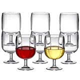 Amazing Abby 12-Ounce Stackable Acrylic Wine Glasses (Set of...