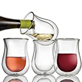 Wine Enthusiast Double Wall Flared Tumblers – Insulated...