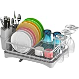 Dish Drying Rack, Veckle Dish Rack with Drain board, Wine...