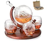 Etched World Decanter whiskey Globe - The Wine Savant...