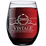 21st Birthday Gifts for Her - 2000 Vintage 15 oz Stemless...