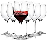 FAWLES Aristocratic Crystal Red Wine Glasses Set of 6, 17...