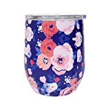 G-LEAF 12oz Floral Stainless Steel Wine Tumbler/Wine Glass...
