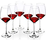 FAWLES Artisan Crystal Red Wine Glasses Set of 6, 24 Ounce...