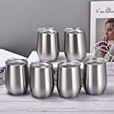 6 Pack 12Oz Stemless Wine Tumbler Wine Glasses Set Stainless...