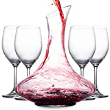 Mafiti 1.8L Wine Aerator Decanter and Carafe with 4 Red Wine...