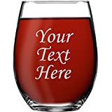 Personalized 15oz Stemless Wine Glass - Engraved With Your...