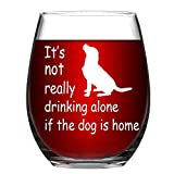 Stemless Wine Glass It's not really drinking alone if the...