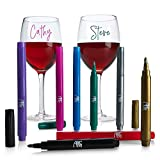 Wine Glass Markers - Pack of 8 Wine Glass Marker Pens...