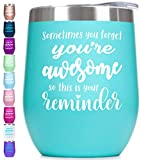 Prokitline Wine Tumbler with Sayings For Women - Thank You,...