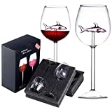 Wine Glasses Set of 2,Red Wine Clear Glass,Crystal Flutes...