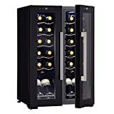Wine Enthusiast 24-Bottle French Door Dual-Zone Compressor...