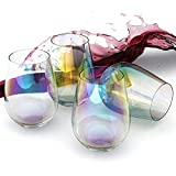 Amesser Stemless Wine Glasses 18 - Ounce Set of 4,...
