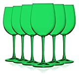 Emerald Green Full Accent 19 oz Wine Glasses - Set of 6 by...