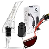 Earnest Concepts Wine Aerator and Wine Stopper, Decanter...