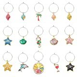 Colorful Beach Wine Charms Drink Glass Markers