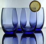 Circleware 44832 Uptown Stemless Wine Glasses,15 oz, Purple...