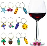 Wine Glass Charms Tags, Wine Drinker Gift set of 12,...