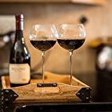 Snute Long Stem Wine Glasses for Red Wine or White Wine -...
