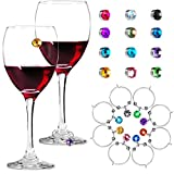 12 Pieces Crystal Magnetic Glass Charm Magnetic Drink...