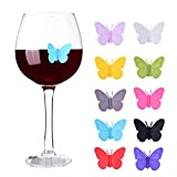 Wine Glass Markers Set of 10 Silicone Drink Glass Charms...