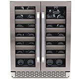Whynter BWR-401DS 40 Bottle Stainless Steel Dual Zone Built...