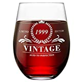 21th Birthday Gifts for Women & Men Stemless Wine Glass...