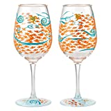 Enesco Designs by Lolita Fish Out of Water Acrylic Wine...