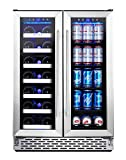 Phiestina Wine and Beverage Refrigerator | 24 Inch Built-In...