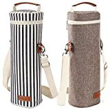 2 Pack -1 Bottle Insulated Wine Tote Carrier Bag Travel...