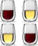 Moderna Artisan Series Double Wall Insulated Wine Glasses -...