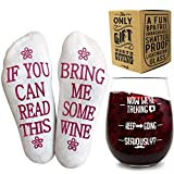 Funny Wine Glass + Wine Socks - Perfect gift set women with...
