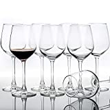 12-Ounce Set of 8 Red White Wine Glasses, Elegant Clear...