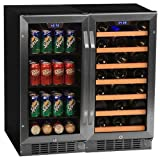 Edgestar 30 Bottle + 80 Can Side-by-Side 30' Wide Wine &...