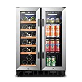 Lanbo Wine and Beverage Refrigerator, Dual Zone Built-in...