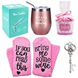 Funny Gift for Women,Wine Tumbler with Saying + Cupcake Wine...