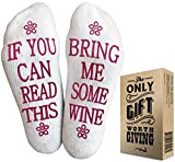 VINAKAS Wine Gifts for Women - If You Can Read This Socks...