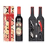 Wine Accessories Gift Set - 5 Pcs Deluxe Wine Corkscrew...
