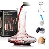 YouYah Wine Decanter Set with Drying Stand,Stopper,Brush and...