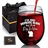 Dog Lover Gifts, I'm Not Drinking Alone if the Dog is Home,...