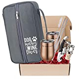 Dog Lover Wine Lover Gift for Women – Wine Cooler with...