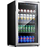 Aicook Beverage Refrigerator and Cooler - 120 Can Mini...