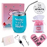 Tumbler Birthday Gifts Set for Women, Insulated Wine Tumbler...