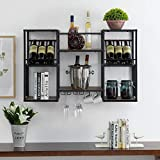 O&K FURNITURE Industrial Wall Mounted Wine Bottle Rack with...