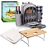 Averi Fields Picnic Backpack, Durable Picnic Bag with...