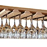 SMITCO Wine Glass Holder - Under Cabinet Storage and Hanging...