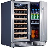Kalamera Wine Cooler Refrigerator – 2-in-1 Wine and...