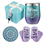 Wine Gift Baskets for Women - Unique Novelty Gift for Mom,...
