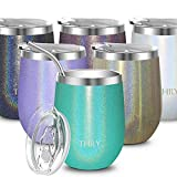 Vacuum Insulated Stemless Wine Glass - THILY T2 Stainless...