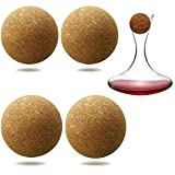 4 Pieces Wine Cork Ball Wooden Cork Ball Stopper for Wine...